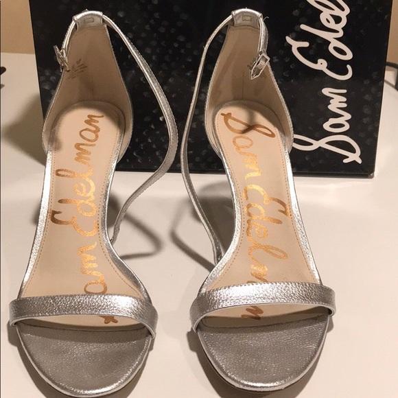 5540f5770 Sam Edelman Shoes - Sam Edelman Patti Silver Heels